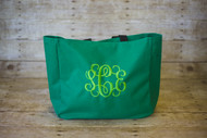 Kelly Green Tote with Interlocking in Erin Green