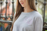 Athletic Heather Tee with Interlocking in Arden Lavender