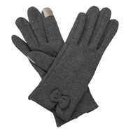 Charcoal Glove with Bow