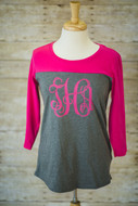 Fuchsia/Grey with Pink Interlocking Monogram