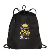 Crowned Elite Cinch Bag with Name