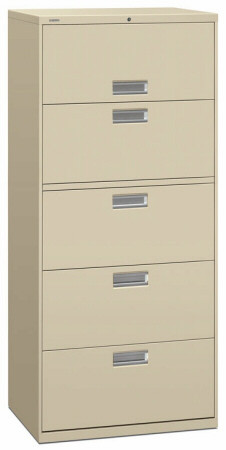 "30"" 5 Drawer HON 600 Lateral File Cabinet [675L] -1"