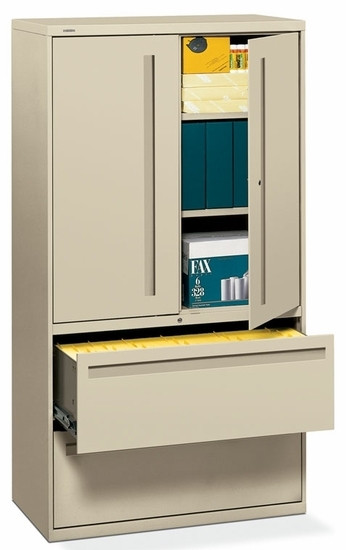 HON Storage Cabinet with Lateral File [785LS] -1  sc 1 st  OfficeChairsOnSale.com & Storage Cabinet with Lateral File - HON Storage Cabinet with Lateral ...