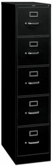 HON 5 Drawer Vertical File Cabinet with Lock [315P] -1