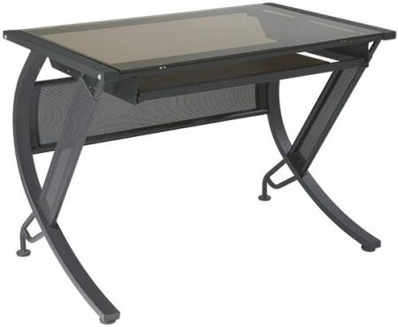 Horizon Tempered Glass Top Computer Desk [HZN25] -1