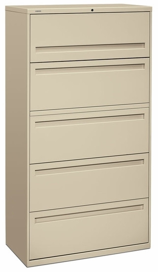 "HON 36"" Locking 5 Drawer Lateral File Cabinet [785L] -1"