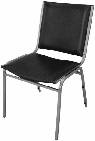 Lorell Armless Vinyl Stacking Chairs [62502] -1