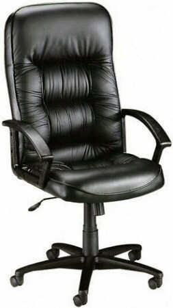 Lorell High Back Tufted Leather Executive Chair [60116] -1