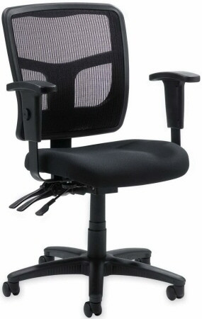 lorell mesh mid back office chair llr86201