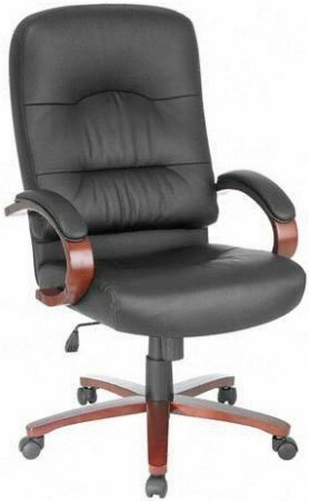 Lorell Woodbridge High Back Leather Chair [60335] -1