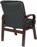 Mahogany Finish Leather Guest Chair [8505] -2