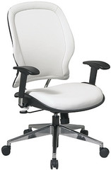 Managers White Vinyl Modern Office Chair [33-Y22P91A8] -1