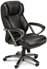 Mayline Leather Lumbar Support Desk Chair [UL350H] -1
