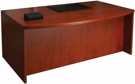 Mayline Mira Bow Front Executive Office Desk [MDK3672] -1