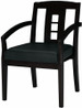 Mayline Wooden Guest Chair with Leather Seat [VSC2A] -1