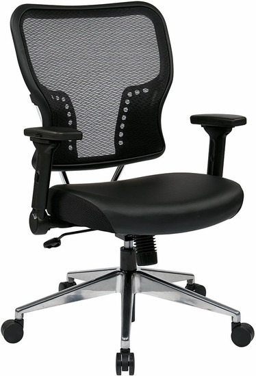 Office Star Mesh Back Chair With Folding Arms [213 E37P91F3]  1