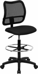 Mid Back Mesh Drafting Chair [WL-A277-BK-D-GG] -1