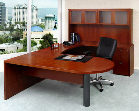 Mira U Shaped Office Desk With Hutch [MEU2]  1
