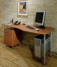 Modern Computer Desk with File Pedestal [905] -1