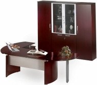 Napoli Contemporary Office Desk with Wardrobe [NT11] -1