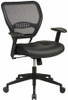 Office Mesh Chair with Leather Seat [5700] -1