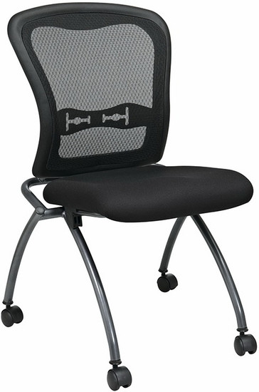 Office Star Armless Folding Mesh Chairs 84220
