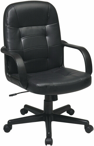 Office Star Eco Leather Mid Back Managers Chair [EC3393] -1