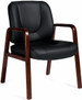 Offices To Go™ Luxhide Executive Guest Chair [11770] -1