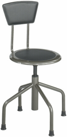 Safco Diesel Low Base Stool with Backrest [6668] -1