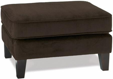 Sierra Collection Dark Brown Corduroy Ottoman [SRA905] -1