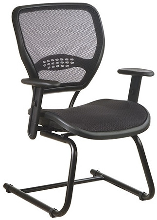 Guest Chair Mesh Sled Base Guest Chair Mesh Screened 5565