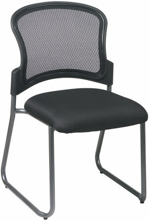 Mesh Back Sled Base Office Guest Chair [86725] -1