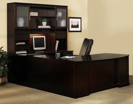 Sorrento U Shape Executive Office Desk With Hutch [ST5]  1