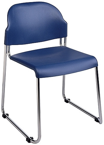 Stackable Plastic Chair with Chrome Finish [STC3230] -1