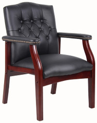 Boss Traditional Side Chair with Arms [B959] -1