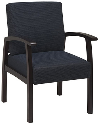 Fabric Upholstered Guest Chair with Wood Arms [WD1353] -1