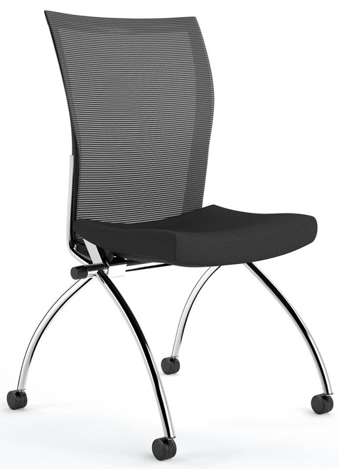 Mayline Valore High Back Armless Nesting Chairs [TSH2] -Black