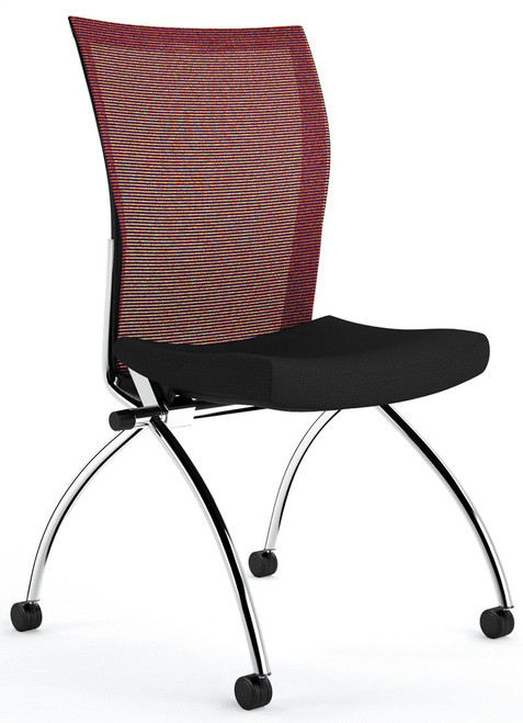 Mayline Valore High Back Armless Nesting Chairs [TSH2] -Red