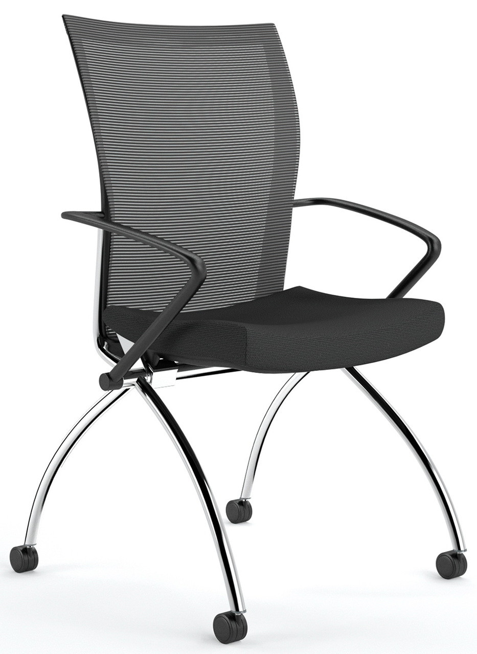 Mayline Valore Mesh Back Nesting Chair With Arms Tsh1