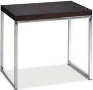 Wall Street Espresso Finish End Table [WST09] -1