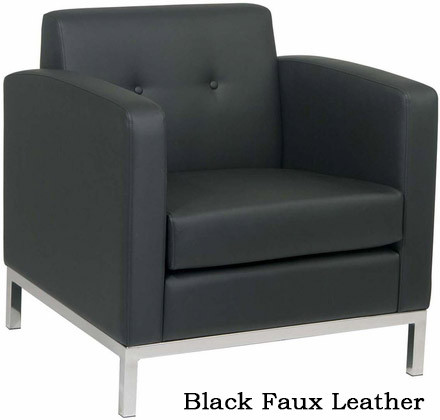 Wall Street Faux Leather Arm Chair [WST51A] -1