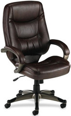 Lorell Westlake High Back Bonded Leather Chair [63280] -1