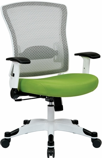 office star white mesh back office chair - white mesh chair