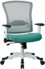 Office Star White Mesh Back Office Chair [317W-W1C1F2W] -4