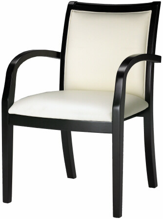 Mayline Wood and Leather Guest Chair [VSC7A] -1
