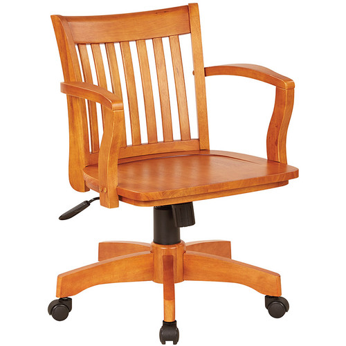 Office Star Wood Bankers Desk Chair [105]  1