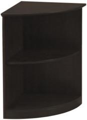 Mayline Medina Bookcase 2 Shelf 1/4 Round Mocha Laminate [MVBQ2LDC]-1