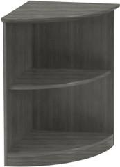 Mayline Medina Bookcase 2 Shelf 1/4 Round Gray Steel [MVBQ2LGS]-1