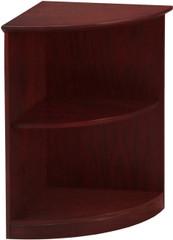 Mayline Medina Bookcase 2 Shelf 1/4 Round Mahogany [MVBQ2LMH]-1