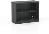 Mayline Aberdeen 2 Shelf Bookcase Fixed Shelf Gray Steel [AB2S36LGS]-1